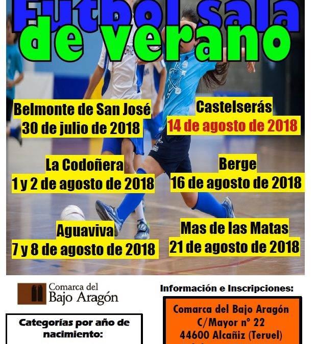 La Comarca del Bajo Aragón, organiza un verano más, torneos de Fútbol sala en diferentes localidades de nuestra Comarca