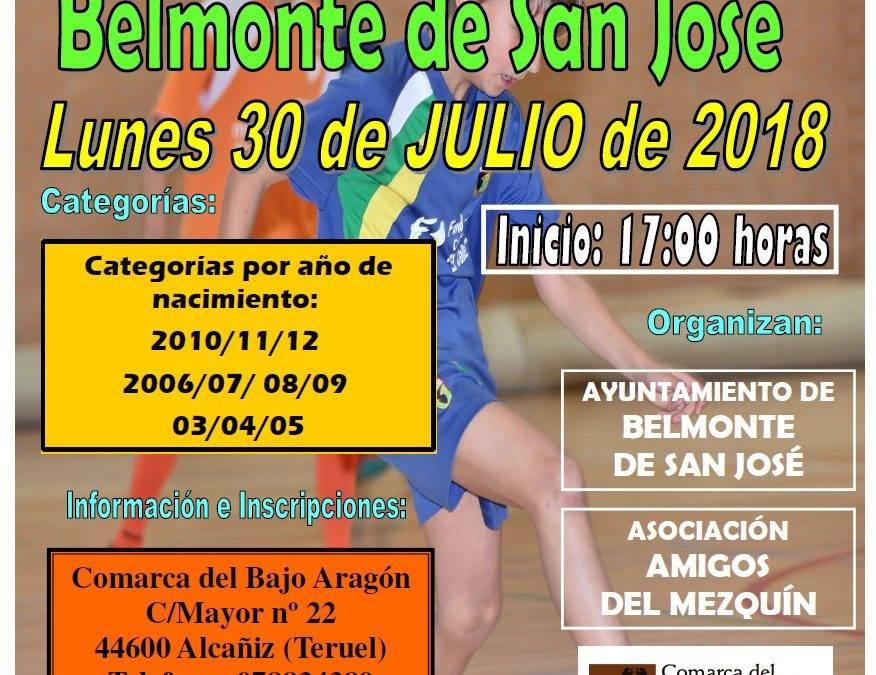 Torneo de fútbol sala infantil. Belmonte de San José. 30 de Julio.