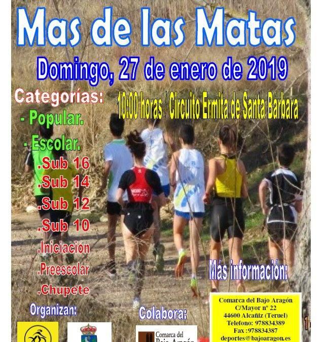 Cross Escolar de Mas de las  Matas. 27 de Enero