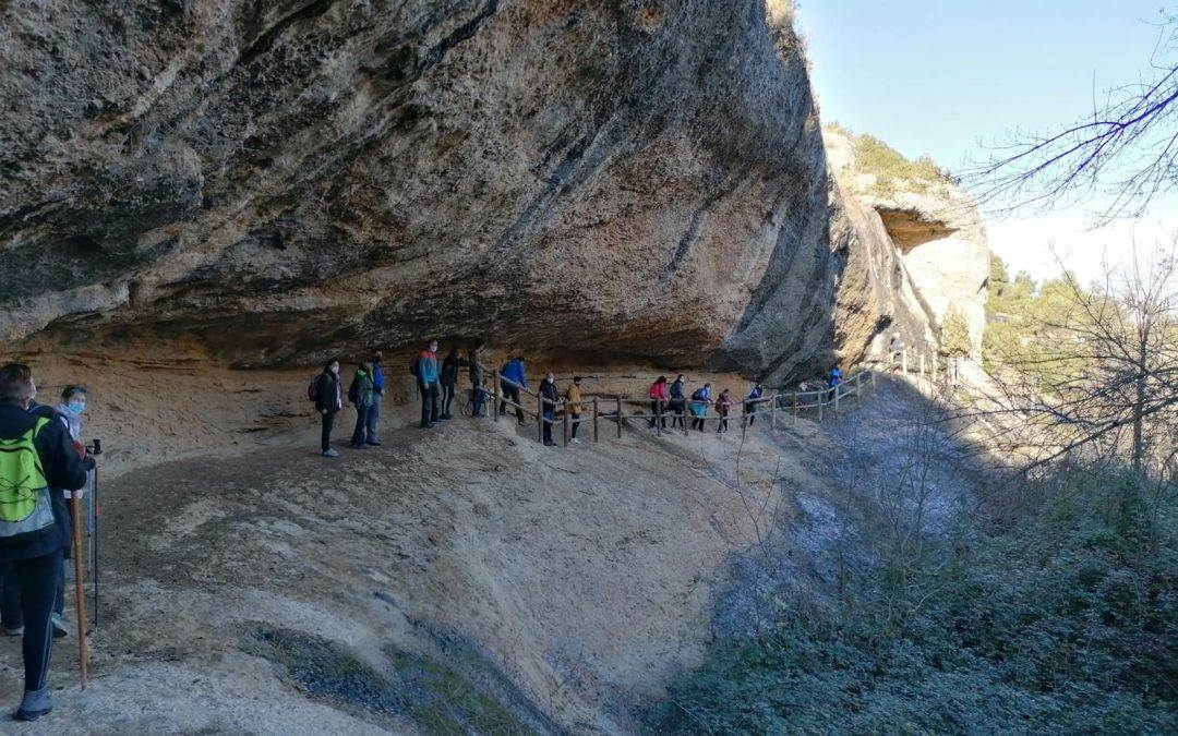 El servicio de deportes de la Comarca del Bajo Aragón, aprovecha nuestro espacio natural, para realizar actividades al aire libre.