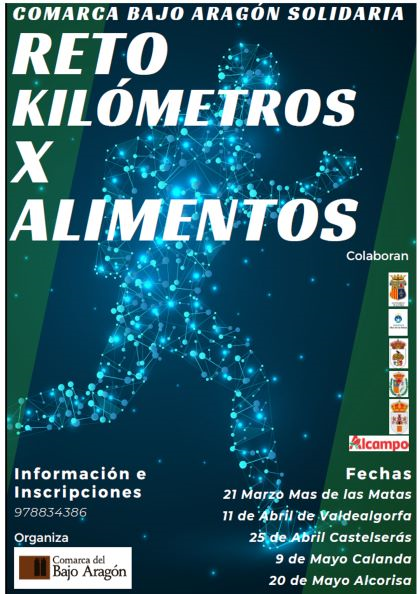 """La Comarca del Bajo Aragón presenta su iniciativa solidaria """"Comarca solidaria. Kilómetros por alimentos""""."""