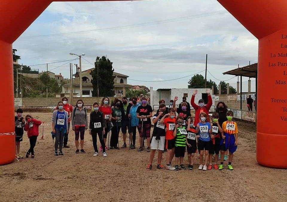 """Reto solidario """"Kilómetros x alimentos""""  Comarca del Bajo Aragón se celebra en Valdealgorfa."""