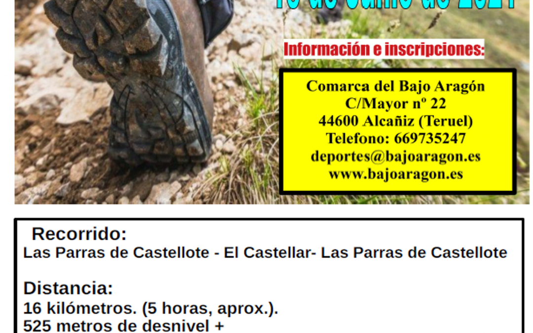 Se retoman las rutas y marchas senderistas organizadas por la Comarca del Bajo Aragón