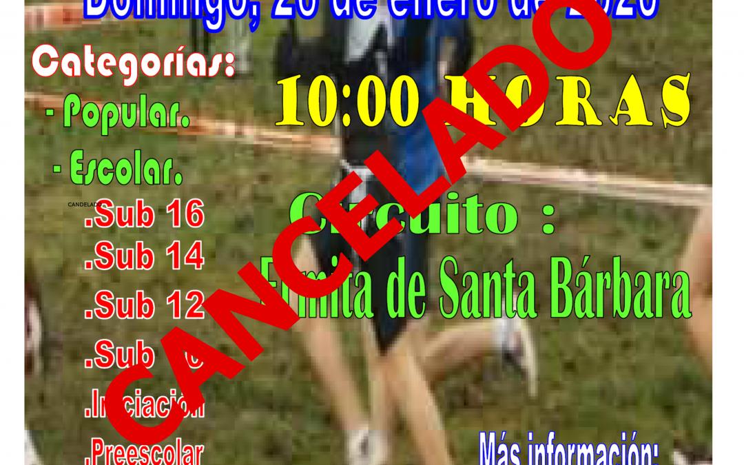 SUSPENDIDO Cross Escolar de Mas de las Matas. 26 de Enero