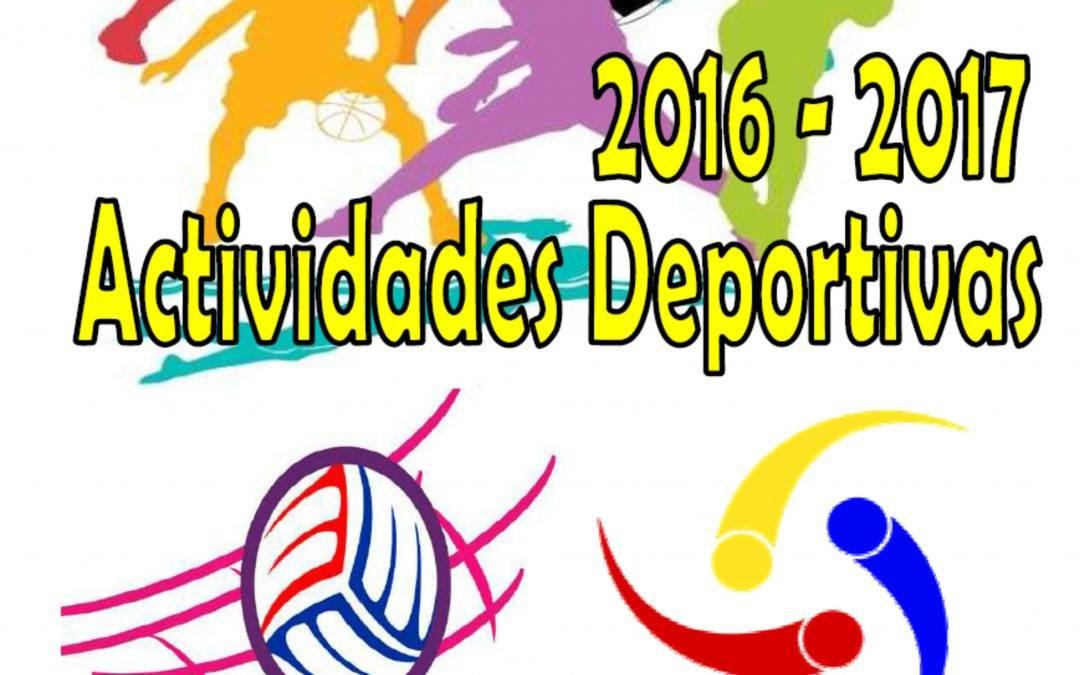 Actividades Deportivas para el Curso 2016-2017 en la Comarca del Bajo Aragón