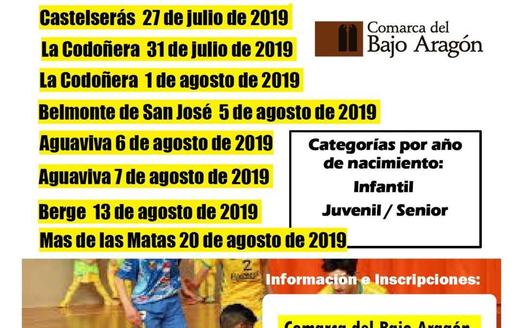 Torneos Fútbol Sala de Verano Comarca del Bajo Aragón.