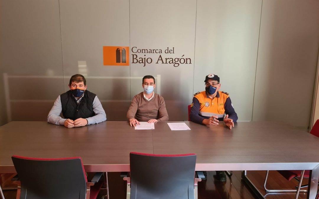 La Comarca del Bajo Aragón y la Agrupación de voluntarios de protección civil»Salvamento Bajo aragón», firman su convenio de colaboración para el año 2021.