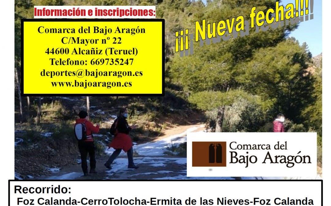 Nueva fecha para la marcha senderista Foz Calanda-Cerro de Tolocha. 14 DE MARZO.