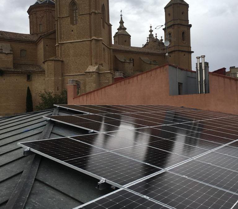 La  Sede de la comarca del Bajo Aragón ya es   medioambientalmente más sostenible.